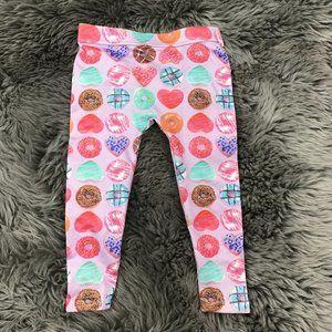 Toughskins | Girl's Leggings | Pink | Donuts | 2T